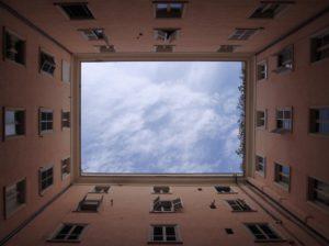 building, perspective, sky