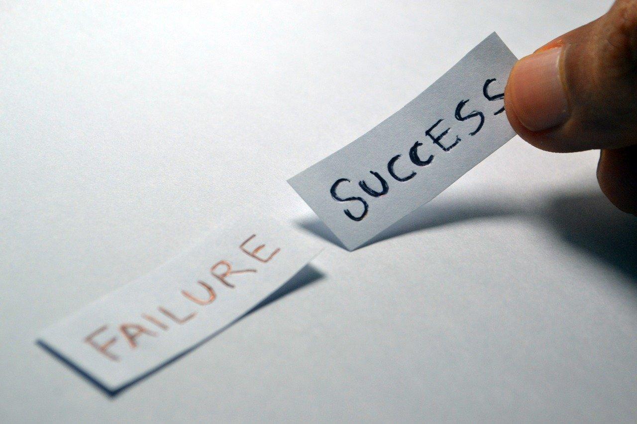 success, failure, opposite