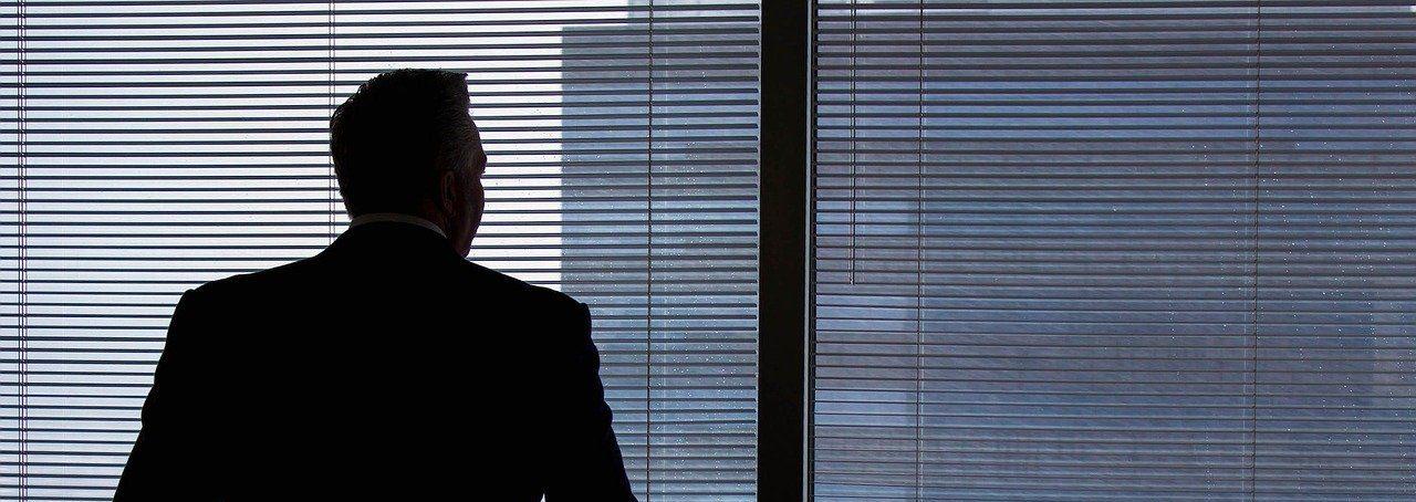 businessman, silhouette, windows